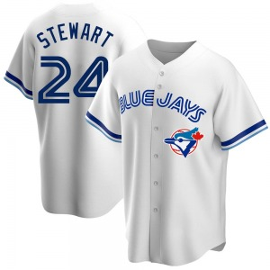 Shannon Stewart Toronto Blue Jays Replica Home Cooperstown Collection Jersey - White