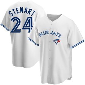 Shannon Stewart Toronto Blue Jays Replica Home Jersey - White