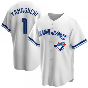 Shun Yamaguchi Toronto Blue Jays Youth Replica Home Cooperstown Collection Jersey - White