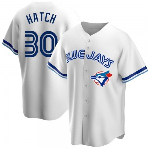 Thomas Hatch Toronto Blue Jays Youth Replica Home Cooperstown Collection Jersey - White