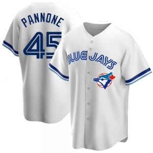 Thomas Pannone Toronto Blue Jays Replica Home Cooperstown Collection Jersey - White