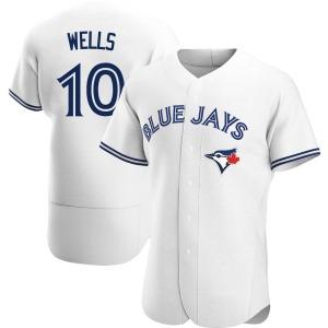 Vernon Wells Toronto Blue Jays Authentic Home Jersey - White