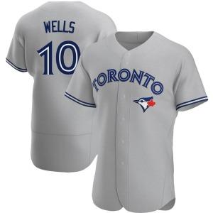 Vernon Wells Toronto Blue Jays Authentic Road Jersey - Gray