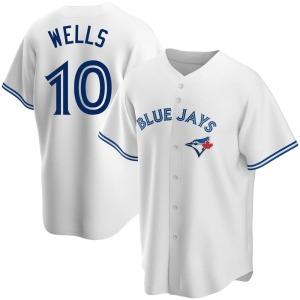 Vernon Wells Toronto Blue Jays Replica Home Jersey - White