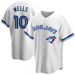 Vernon Wells Toronto Blue Jays Youth Replica Home Cooperstown Collection Jersey - White