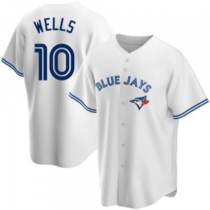 Vernon Wells Toronto Blue Jays Youth Replica Home Jersey - White