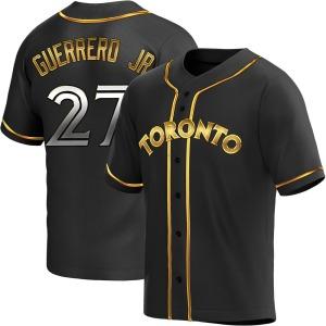 Vladimir Guerrero Jr. Toronto Blue Jays Youth Replica Alternate Jersey - Black Golden