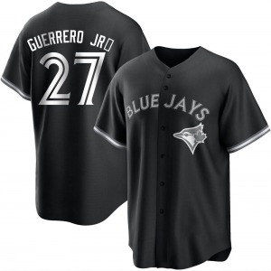 Vladimir Guerrero Jr. Toronto Blue Jays Youth Replica Black/ Jersey - White