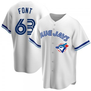 Wilmer Font Toronto Blue Jays Replica Home Cooperstown Collection Jersey - White