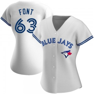 Wilmer Font Toronto Blue Jays Women's Authentic Home Jersey - White