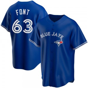 Wilmer Font Toronto Blue Jays Youth Replica Alternate Jersey - Royal