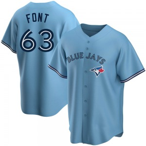 Wilmer Font Toronto Blue Jays Youth Replica Powder Alternate Jersey - Blue