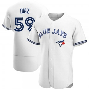 Yennsy Diaz Toronto Blue Jays Authentic Home Jersey - White