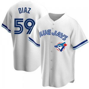 Yennsy Diaz Toronto Blue Jays Youth Replica Home Cooperstown Collection Jersey - White