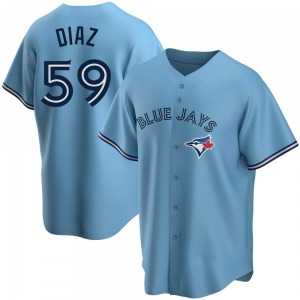 Yennsy Diaz Toronto Blue Jays Youth Replica Powder Alternate Jersey - Blue
