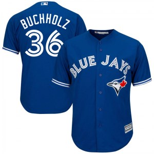Clay Buchholz Toronto Blue Jays Replica Cool Base Alternate Majestic Jersey - Royal Blue