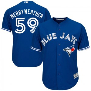Julian Merryweather Toronto Blue Jays Replica Cool Base Alternate Majestic Jersey - Royal Blue