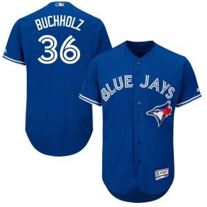 Clay Buchholz Toronto Blue Jays Authentic Flex Base Alternate Collection Majestic Jersey - Royal Blue