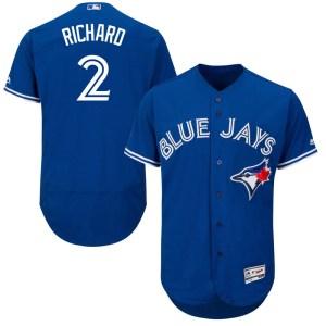 Clayton Richard Toronto Blue Jays Authentic Flex Base Alternate Collection Majestic Jersey - Royal Blue