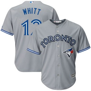 Ernie Whitt Toronto Blue Jays Authentic Cool Base Road Majestic Jersey - Gray
