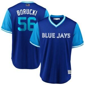 "Ryan Borucki Toronto Blue Jays Youth Replica ""BORUCKI"" Royal/ 2018 Players' Weekend Cool Base Majestic Jersey - Light Blue"