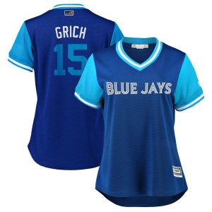 "Randal Grichuk Toronto Blue Jays Women's Replica ""GRICH"" Royal/ 2018 Players' Weekend Cool Base Majestic Jersey - Light Blue"