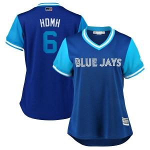 "Marcus Stroman Toronto Blue Jays Women's Replica ""HDMH"" Royal/ 2018 Players' Weekend Cool Base Majestic Jersey - Light Blue"