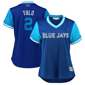 "Troy Tulowitzki Toronto Blue Jays Women's Replica ""TULO"" Royal/ 2018 Players' Weekend Cool Base Majestic Jersey - Light Blue"