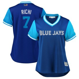 "Richard Urena Toronto Blue Jays Women's Replica ""RICHI"" Royal/ 2018 Players' Weekend Cool Base Majestic Jersey - Light Blue"
