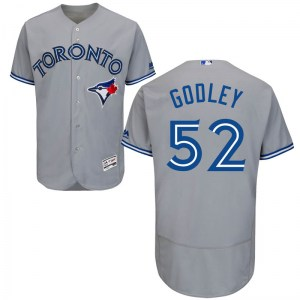Zack Godley Toronto Blue Jays Authentic Flex Base Road Collection Majestic Jersey - Gray