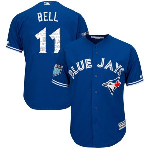 George Bell Toronto Blue Jays Youth Replica Cool Base 2018 Spring Training Majestic Jersey - Royal