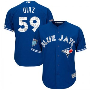 Yennsy Diaz Toronto Blue Jays Youth Replica Cool Base 2018 Spring Training Majestic Jersey - Royal
