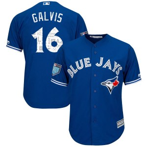Freddy Galvis Toronto Blue Jays Youth Replica Cool Base 2018 Spring Training Majestic Jersey - Royal