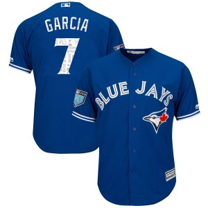 Damaso Garcia Toronto Blue Jays Youth Replica Cool Base 2018 Spring Training Majestic Jersey - Royal