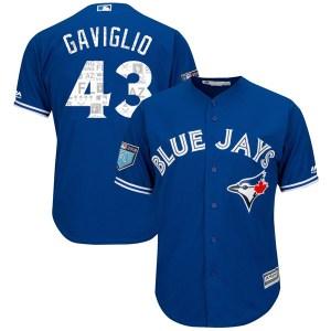 Sam Gaviglio Toronto Blue Jays Youth Replica Cool Base 2018 Spring Training Majestic Jersey - Royal