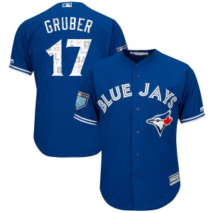 Kelly Gruber Toronto Blue Jays Youth Replica Cool Base 2018 Spring Training Majestic Jersey - Royal