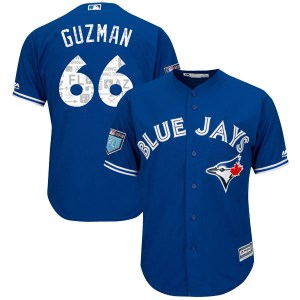Juan Guzman Toronto Blue Jays Youth Replica Cool Base 2018 Spring Training Majestic Jersey - Royal