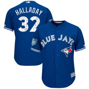 Roy Halladay Toronto Blue Jays Youth Replica Cool Base 2018 Spring Training Majestic Jersey - Royal