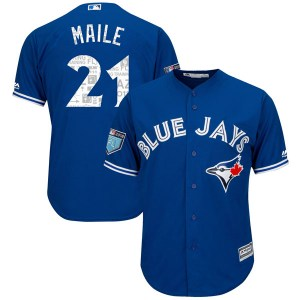 Luke Maile Toronto Blue Jays Youth Replica Cool Base 2018 Spring Training Majestic Jersey - Royal