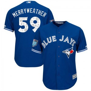 Julian Merryweather Toronto Blue Jays Youth Replica Cool Base 2018 Spring Training Majestic Jersey - Royal