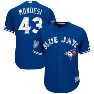 Raul Mondesi Toronto Blue Jays Youth Replica Cool Base 2018 Spring Training Majestic Jersey - Royal