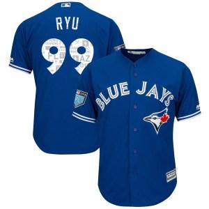 Hyun-Jin Ryu Toronto Blue Jays Youth Replica Cool Base 2018 Spring Training Majestic Jersey - Royal