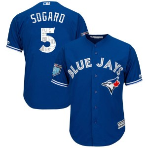 Eric Sogard Toronto Blue Jays Youth Replica Cool Base 2018 Spring Training Majestic Jersey - Royal