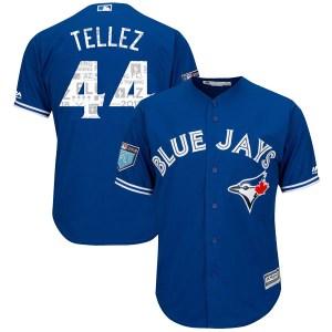 Rowdy Tellez Toronto Blue Jays Youth Replica Cool Base 2018 Spring Training Majestic Jersey - Royal