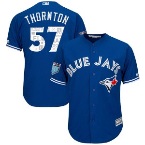 Trent Thornton Toronto Blue Jays Youth Replica Cool Base 2018 Spring Training Majestic Jersey - Royal