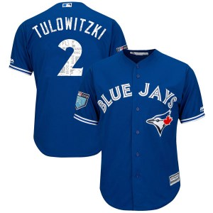 Troy Tulowitzki Toronto Blue Jays Youth Replica Cool Base 2018 Spring Training Majestic Jersey - Royal