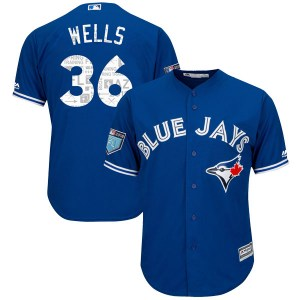 David Wells Toronto Blue Jays Youth Replica Cool Base 2018 Spring Training Majestic Jersey - Royal