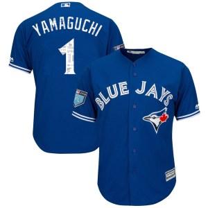Shun Yamaguchi Toronto Blue Jays Youth Replica Cool Base 2018 Spring Training Majestic Jersey - Royal
