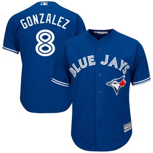 Alex Gonzalez Toronto Blue Jays Youth Replica Cool Base Alternate Majestic Jersey - Royal Blue