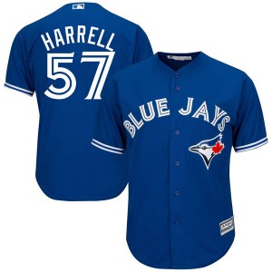 Lucas Harrell Toronto Blue Jays Youth Replica Cool Base Alternate Majestic Jersey - Royal Blue